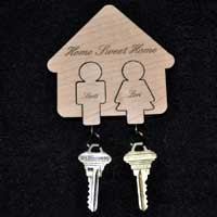 Engraved Key Chain Holder