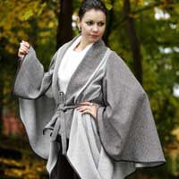 Brown & Bone Draped Cape