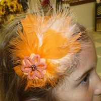 Orange Feather Hair Bands