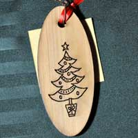 Engraved Cedar Gift Tags