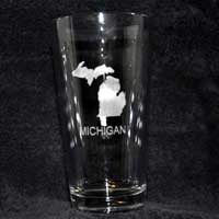 Engraved Glass - Michigan