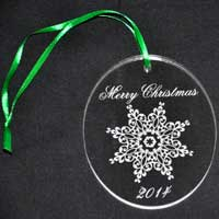 Personalized Engraved Christmas Ornament
