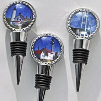 Michigan Bezel Bottle Stoppers