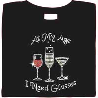 Wine Critic Rhinestone T-shirts