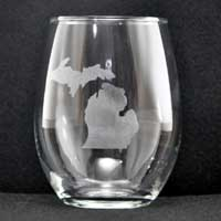 Engraved Stemless Glass