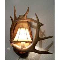 Two Antler Wall Sconce