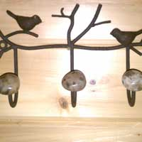Steel Coat Hook with Petoskey Stone