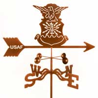 Military, Law Enforcement, or Organization Weather Vanes