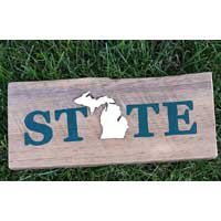 Michigan Barnwood STATE Sign