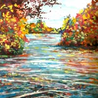 Painting of Chippewa Fall