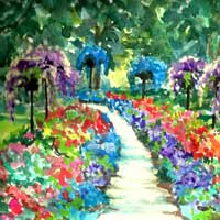 Dow Gardens Hand Signed Print