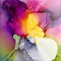 Lafleur alcohol ink painting