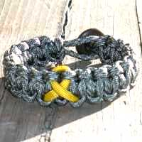 Awareness Ribbon Paracord Bracelet