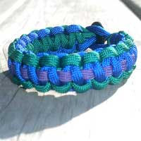 Paracord Bracelet with Stripes
