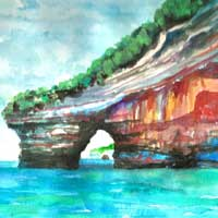Replica of the original painting Pictured Rocks