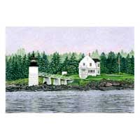 Hand Illustrated Maine Lighthouse Note Cards