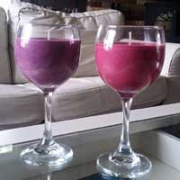 12 oz Wine Glass Candles