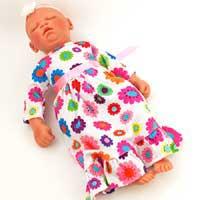 17 Inch Preemie Zoe in Sleeper Outfit