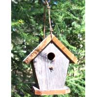 Rustic Barbed Wire Birdhouse