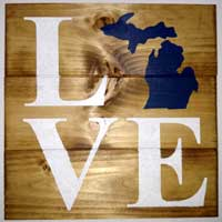 Michigan Love Sign