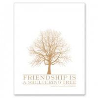 FRIEND Letterpress Card