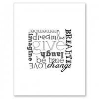 GIVE Letterpress Card
