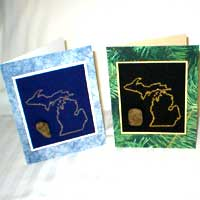 Greeting Cards with Michigan Petoskey Stone