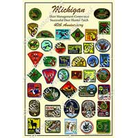 40th Michigan Deer Patch Poster