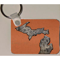 Michigan Petoskey Stone Key Rings