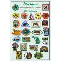 25th Anniversary Michigan Turkey Patch Poster