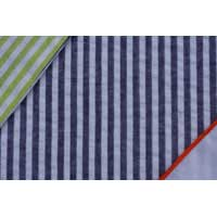 Navy & Lime Reversible Gift Wrap with Orange Stitching
