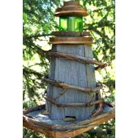 Rustic Lighthouse Birdfeeder Handcrafted of Barnwood