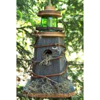 Rustic Lighthouse Birdhouse