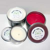 100% Soy Candles in Macintosh Apple and Coconut Cream Fragrances