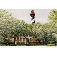 Hand Illustrated Florida Lighthouse Note Cards