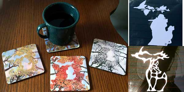 BOGO - Michigan Inspired Designs Coasters and Decals
