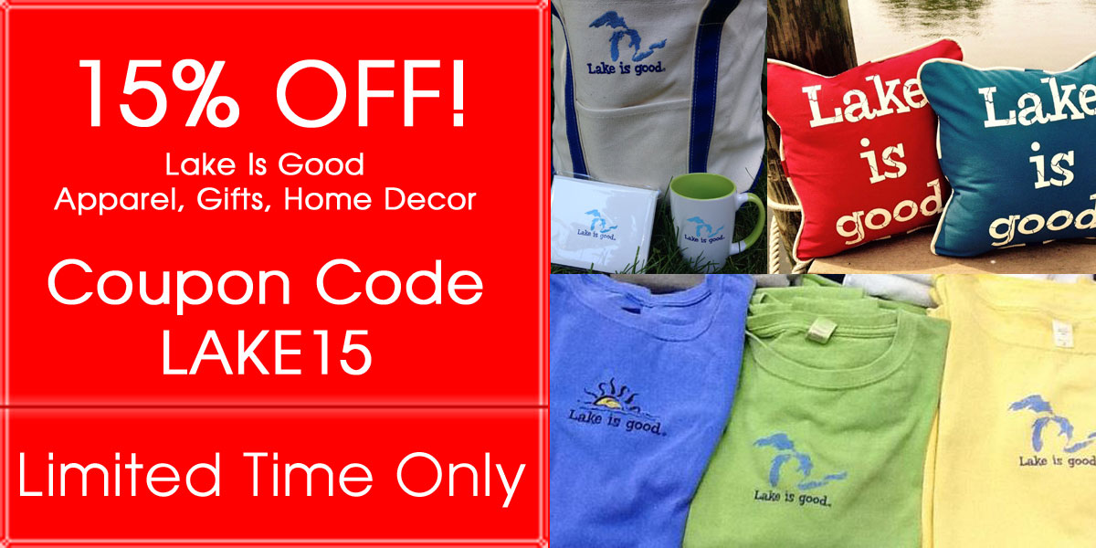 15% OFF Lake Is Good Apparel, Gifts, Home Decor Items!