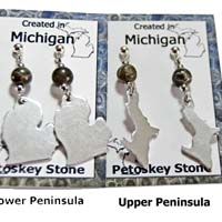 Michigan Earrings by Riverstone Gallery