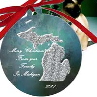 Michigan Ornaments by Riverstone Gallery