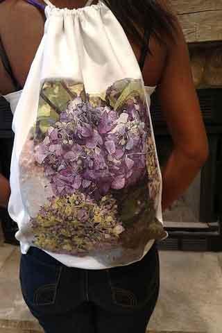 Hydrangea Art Backpack