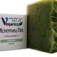Essential Oil Vegan Rosemary Mint Soap