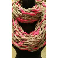 Arm Knitted Infinity Scarves