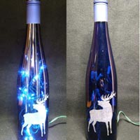 Engraved Lighted Bottles