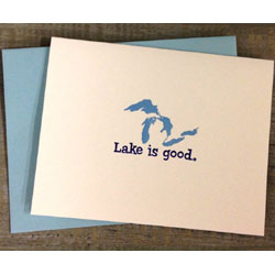 Lake is Good Notecards