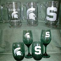 Official MSU Design Glassware