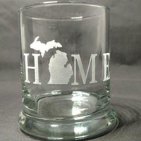 Engraved Rock Glass