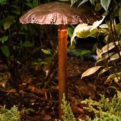 Mushroom Cap Landscape Light