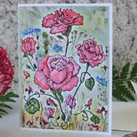 Victorian Red Roses Greeting Card