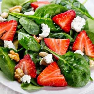 Natural-Way Vinaigrette on Strawberry Salad