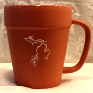 Terracotta Michigan Roots Mug